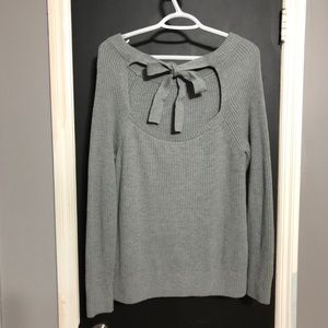 Banana Republic Tie Back Gray Sweater